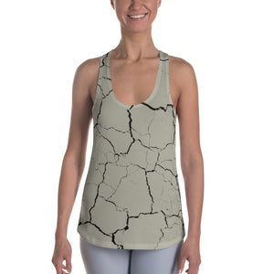 Earth Cracked Racerback Tank - Cranberry Fashion