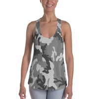 Black and White Camo Racerback Tank - Cranberry Fashion