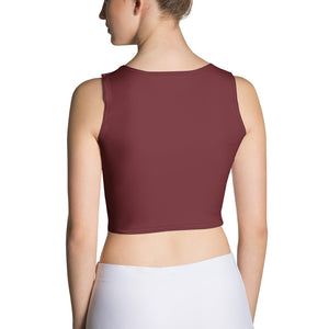 Queens born in February Burgundy Crop Top - Cranberry Fashion