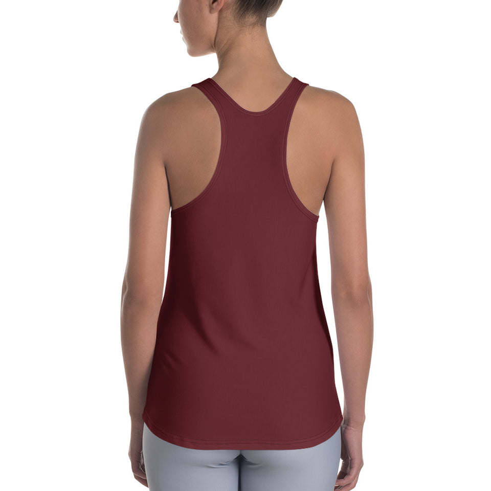Queens born in January Burgundy Racerback Tank Top - Cranberry Fashion