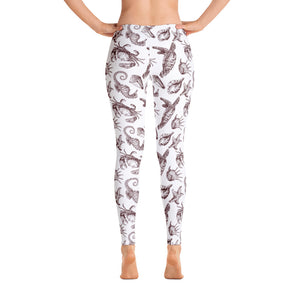 Sea Creature WB Leggings - Cranberry Fashion