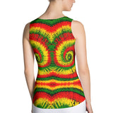 Rasta Tie Dye Tank Top - Cranberry Fashion