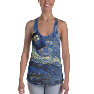 Tardis Racerback Tank - Cranberry Fashion