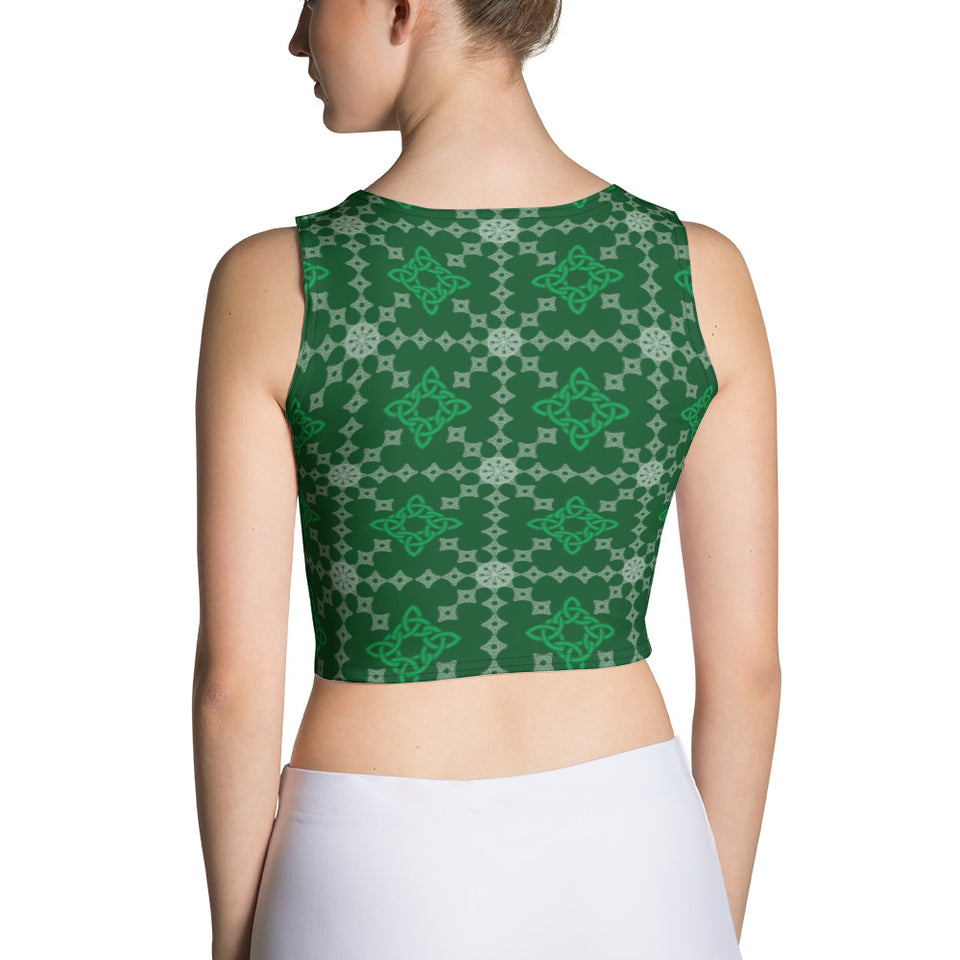 Celtic Iris Crop Top - Cranberry Fashion