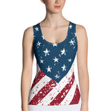 American Flag Tank Top - Cranberry Fashion
