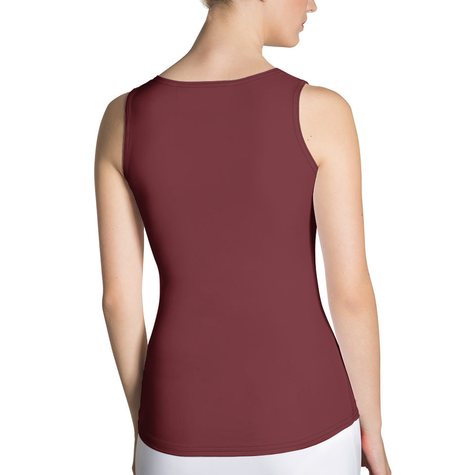 Queens born in April Burgundy Tank Top - Cranberry Fashion