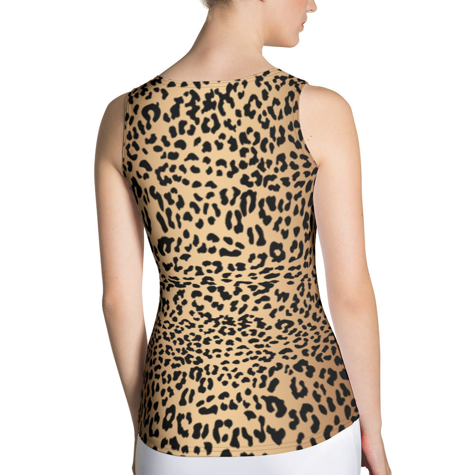 Leopard Brown Tank Top - Cranberry Fashion