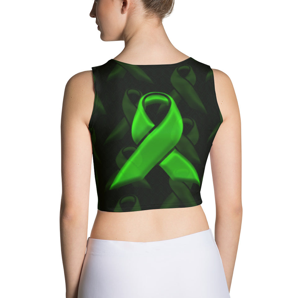 Green Ribbon Crop Top - Cranberry Fashion