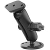 "RAM 1"" Ball Mount with Double Socket Arm, 2.5"" Round Base & Diamond Base - RAM-B-138U"