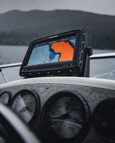 A boat in rough water needs the best GPS mount to track its location