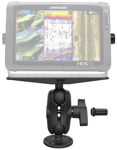 RAM® Pin-Lock™ Universal Marine Electronic Mount with Gimbal Knob - RAM-SG-D-111U-C - OC Mounts