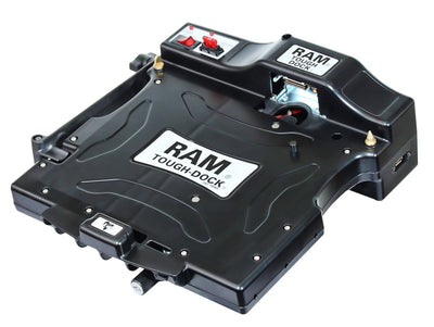 RAM Composite Tough-Dock Powered Cradle with Port Rep and DUAL RF PASS THROUGH, for Toughbook CF-31 - RAM-234-PAN1P-2RF - OC Mounts