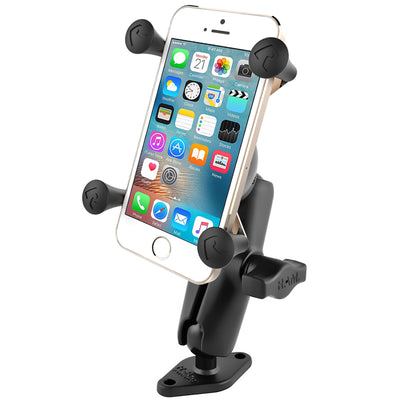 "RAM 1"" Ball Mount with Diamond Base & Universal RAM® X-Grip® Cell/iPhone Cradle - RAM-B-102-UN7U - OC Mounts"