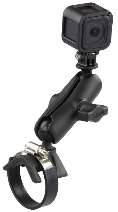RAM Strap Clamp Mount with Universal Action Camera Adapter - RAM-B-108-GOP1 - OC Mounts