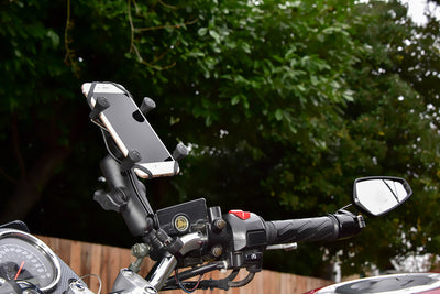 RAM-B-149Z-UN7U - RAM Handlebar U-Bolt Mount with Universal RAM® X-Grip® Cell/iPhone Cradle - OC Mounts