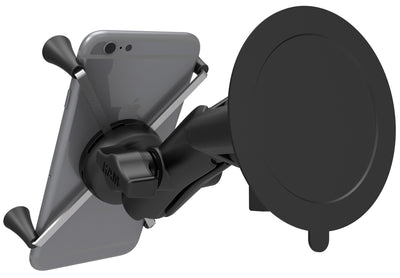 RAM Twist-Lock™ Suction Cup Mount with Universal RAM® X-Grip® Large Phone/Phablet Cradle - RAM-B-166-UN10U - OC Mounts