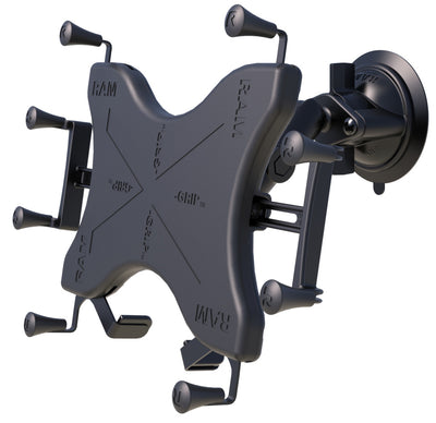 "RAM Twist-Lock™ Suction Cup Mount with Universal RAM® X-Grip® Cradle for 12"" Large Tablets - RAM-B-166-UN11U - OC Mounts"