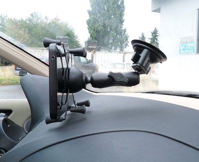 "RAM Twist-Lock™ Suction Cup Mount with Universal RAM® X-Grip® Cradle for 7""-8"" Tablets - RAM-B-166-UN8U - OC Mounts"