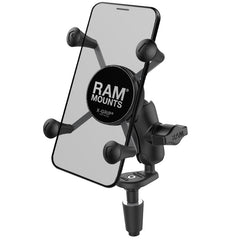 RAM Fork Stem Mount with Short Double Socket Arm & Universal RAM® X-Grip® Cell/iPhone Cradle - RAM-B-176-A-UN7U