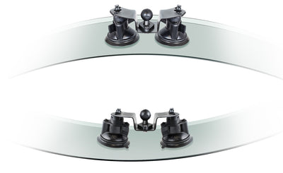 "RAM Dual Articulating Suction Cup Base with 1"" Ball Base - RAM-B-189B-PIV1U - OC Mounts"