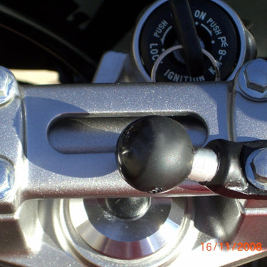 "RAM Motorcycle Base with 9mm Hole and 1"" Ball - RAM-B-272U - OC Mounts"