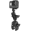 RAM® Tough-Claw™ Small Clamp Mount with Universal Action Camera Adapter - RAM-B-400-A-GOP1U - OC Mounts