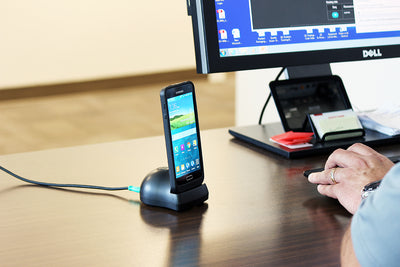 RAM Desktop Dock with GDS Technology™ for IntelliSkin® Products - RAM-GDS-DOCK-D2U - OC Mounts