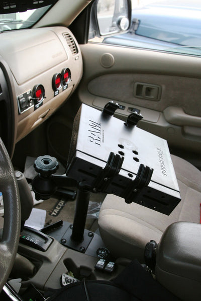 No Drill Laptop Mount for 2006-2014 Toyota FJ Cruiser, 2013 4x2 AT, 4x4 AT, 4x4 MT - RAM-VB-138ST1-SW1 - OC Mounts
