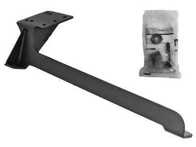 No-Drill™ Laptop Base for the Nissan Frontier, Pathfinder & Xterra - RAM-VB-154 - OC Mounts