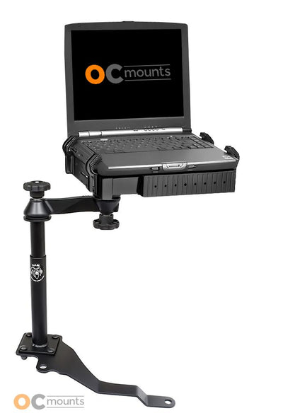No Drill Laptop Mount for 2007-2011 Jeep Wrangler, Rubicon, Sport, Sahara, Unlimited - RAM-VB-170-SW1 - OC Mounts