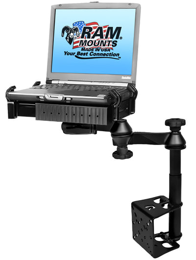 Universal Laptop Mount - RAM Swing arm Laptop Mount Desk Tele-pole - RAM-VB-184T-SW1 - OC Mounts