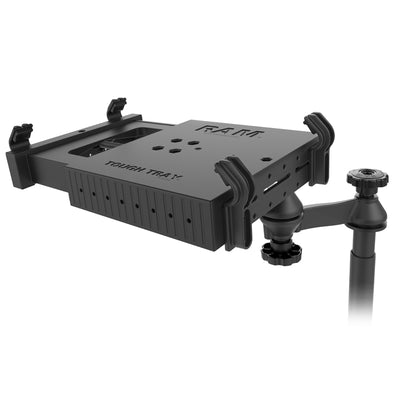 No Drill Laptop Mount for 2015-2020 Ford F150, 2017-2020 F250-F550 - RAM-VB-195-SW1 - OC Mounts
