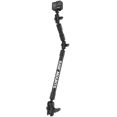 "30"" Tough-Pole™ Camera Mount with C-Size 1.5"" Socket Arm - RAP-201-B-12-4-A-GOP1 - OC Mounts"