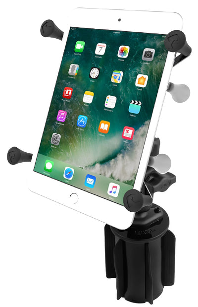 "RAM-A-CAN™ II Universal Cup Holder Mount with Universal RAM® X-Grip® Cradle for 7""-8"" Tablets - RAP-299-3-UN8U - OC Mounts"