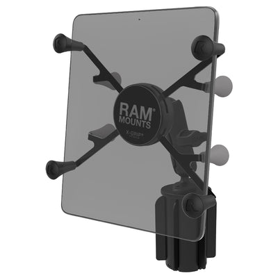"RAM-A-CAN™ II Universal Cup Holder Mount with Universal RAM® X-Grip® Cradle for 7""-8"" Tablets - RAP-299-3-UN8U"