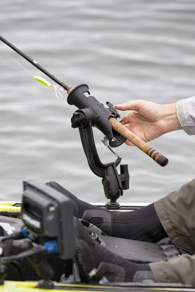 RAM Tube Jr.™ Fishing Rod Holder with RAM ROD® Revolution Ratchet/Socket System (Base NOT Included) - RAP-390-RB-NBU - OC Mounts