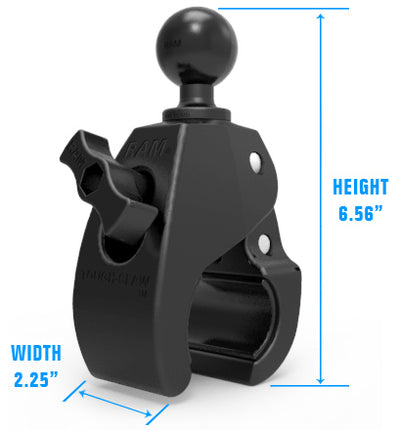 "RAM Large Tough-Claw™ with 1.5"" Diameter Rubber Ball - RAP-401U - OC Mounts"