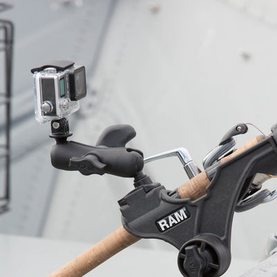 RAM ROD® JR Fishing Rod Holder with Spline Post and Track Base - RAP-434-421 - OC Mounts