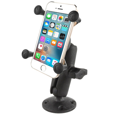 RAM Composite Flat Surface Mount with Universal RAM® X-Grip® Cell Phone Cradle - RAP-B-138-UN7U - OC Mounts