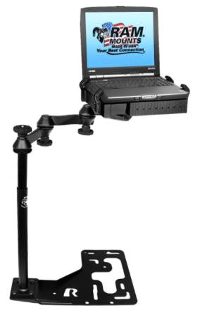Universal No Drill Laptop Mount for Big Rigs and Heavy Duty Trucks - RAM-VB-168-SW1 - OC Mounts