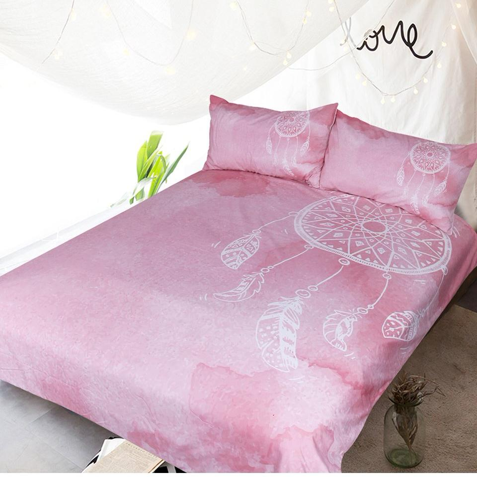 Watercolor Dreamcatcher Bedding Set - 3 Pcs