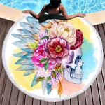 Artists Collection Round Beach Towel