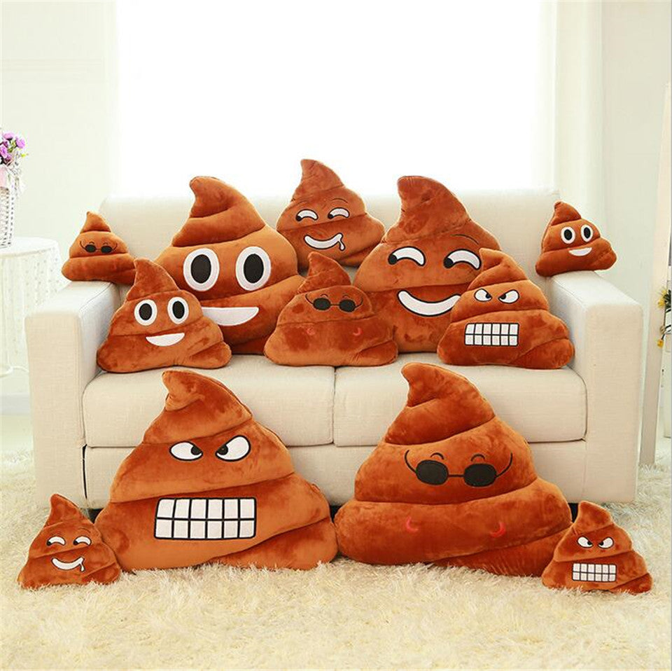 Emoji Face Poop Cushion Covers