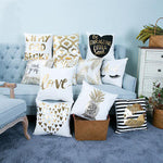Gold Printed Decorative Cushion Covers