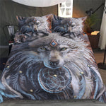 The Great Wolf Warrior by SunimaArt Bedding Set-3 pcs
