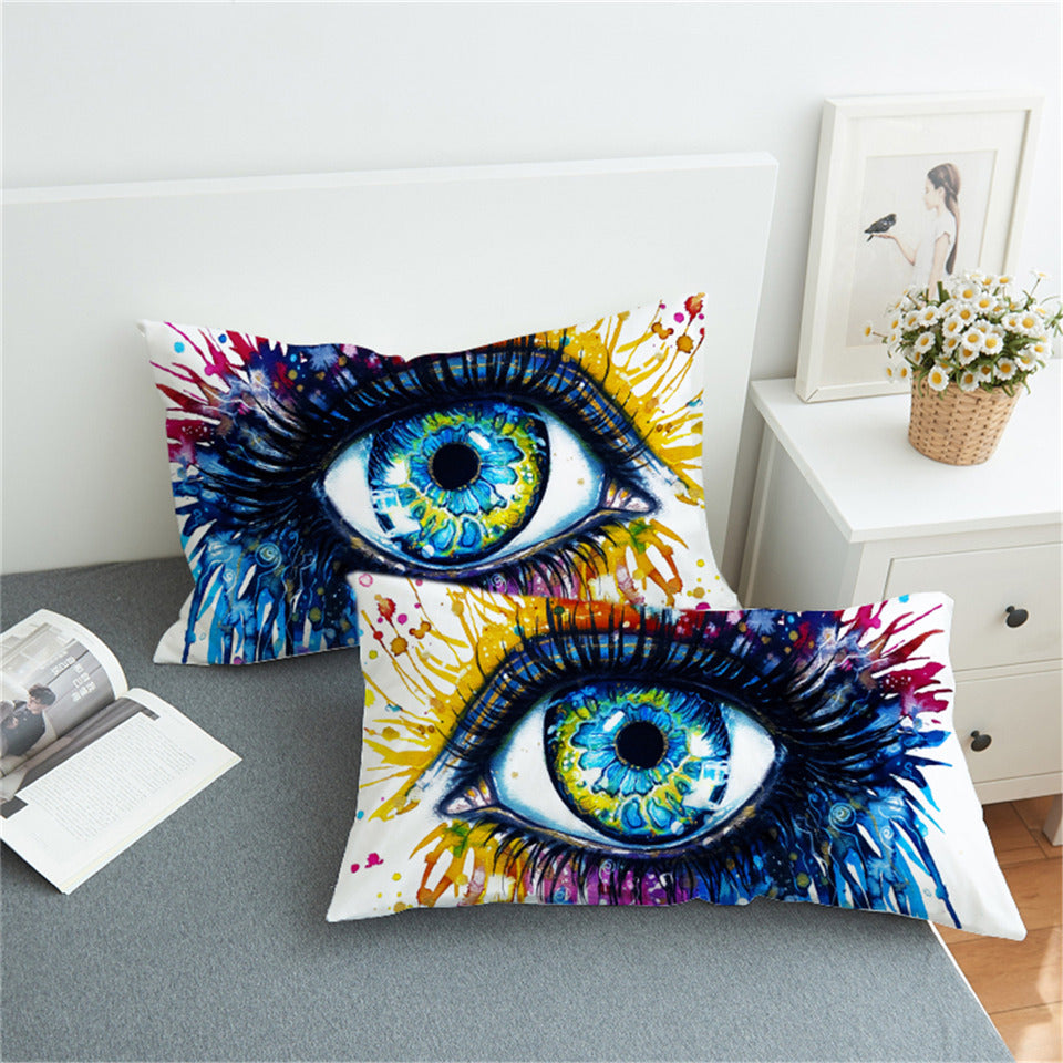 Charming Eye Home Textiles Pillow Cover- Set of 2pcs