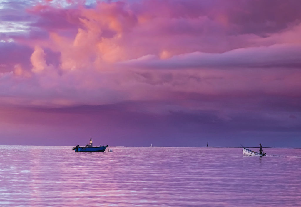 'Purple Dawn' Canvas Print - £55 to £75