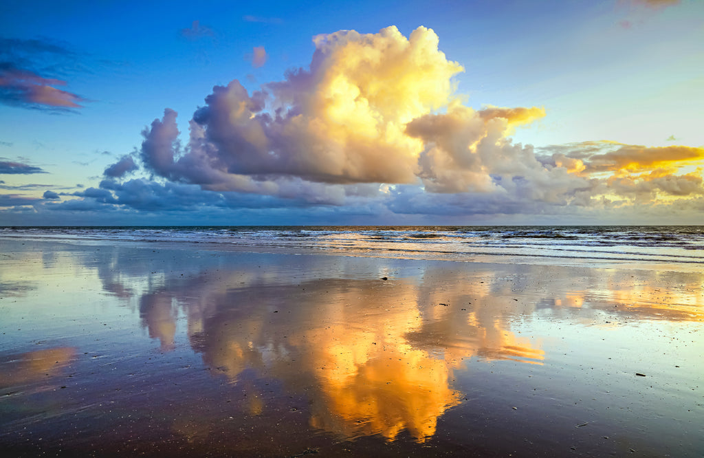 'Sandy Beach Reflections II' Canvas Print - £55 to £75