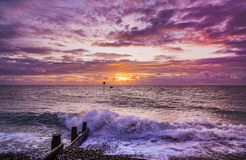 'Purple Dawn Revisited' Canvas Print - £55 to £75