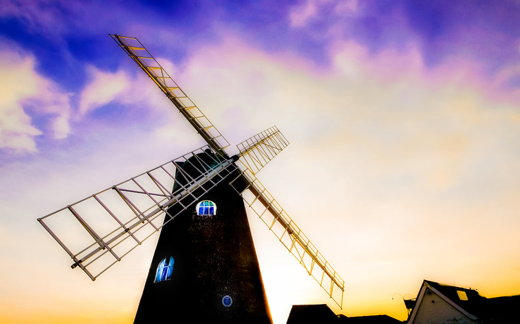 'The Old Selsey Windmill' Canvas Print